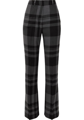 Markus Lupfer - Kennedy Checked Wool Bootcut Pants - Gray
