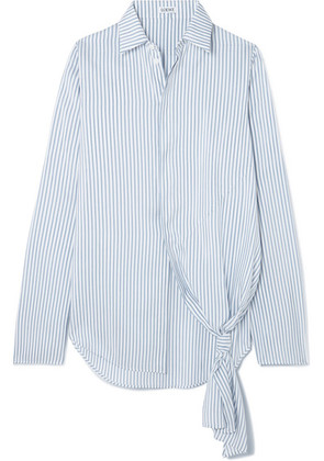 Loewe - Asymmetric Striped Silk Shirt - Blue