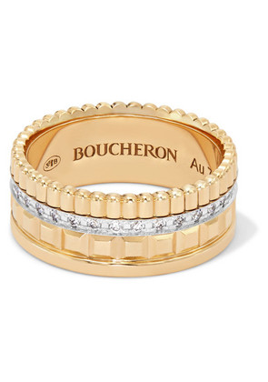 Boucheron - Quatre Radiant Edition Small 18-karat Gold Diamond Ring - 54