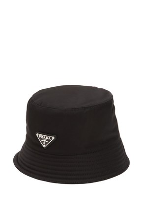 TRIANGLE LOGO NYLON BERET