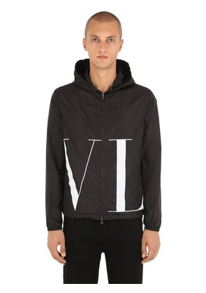VLTN LOGO PRINTED NYLON JACKET
