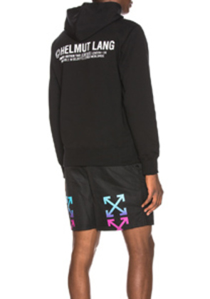 Helmut Lang Taxi Project London Hoodie in Black