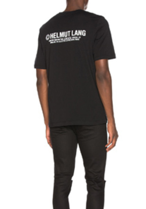Helmut Lang Taxi Project London Tee in Black