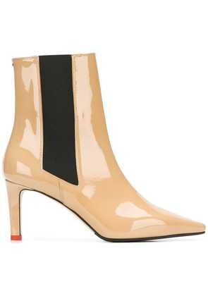 Aeyde Leila pointed boots - Neutrals