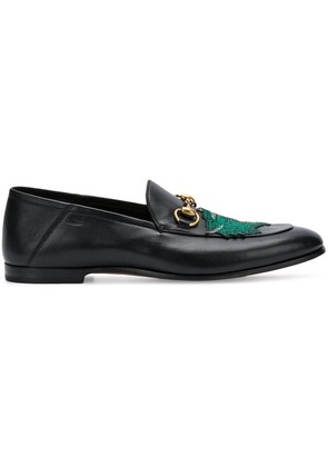 Gucci panther face loafers - Black