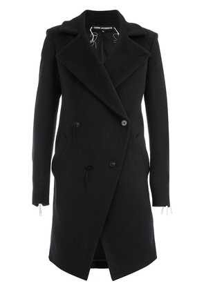 Cedric Jacquemyn double-breasted fitted coat - Black