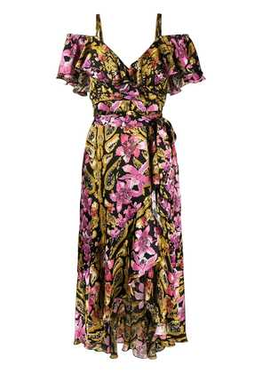 Temperley London floral printed off-the-shoulder dress - Black