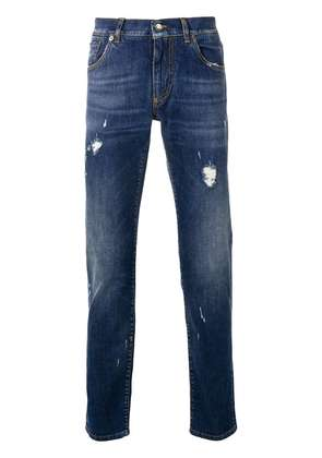 Dolce & Gabbana ripped slim fit jeans - Blue