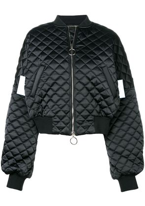Off-White quilted bomber jacket - Black