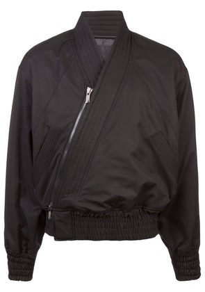 D.Gnak diagonal zip bomber jacket - Black