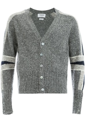 Thom Browne panelled sleeve cardigan - Grey