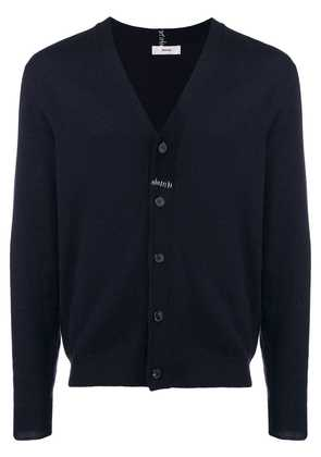 Mauro Grifoni stitch detail cardigan - Blue
