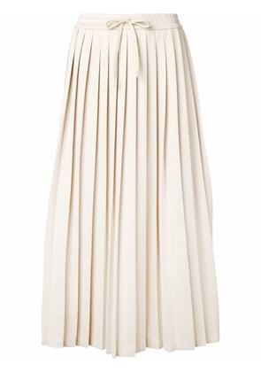 Gucci webbing pleated skirt - Nude & Neutrals