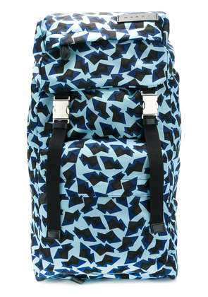 Marni printed backpack - Blue