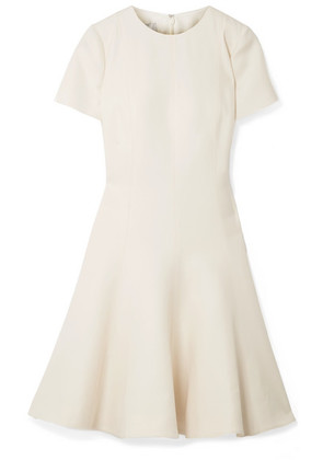 Valentino - Wool And Silk-blend Dress - Off-white