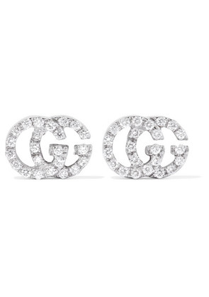 Gucci - 18-karat White Gold Diamond Earrings - one size