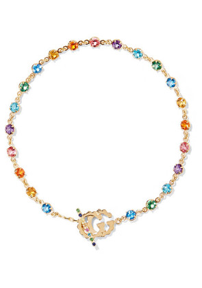 Gucci - 18-karat Gold Multi-stone Bracelet - medium