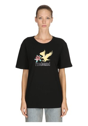 BOXY FIT GOLDEN EAGLE JERSEY T-SHIRT