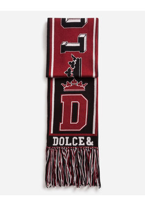 Dolce & Gabbana Scarves and Silks - SCARF IN CASHMERE AND WOOL JACQUARD MULTICOLOR