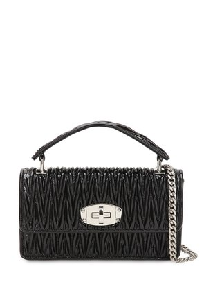 SMALL CLEO QUILTED PATENT LEATHER BAG