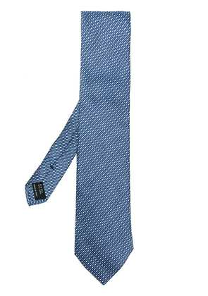 Tom Ford woven patterned tie - Blue