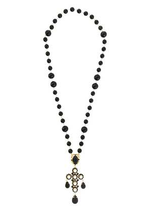 Dolce & Gabbana beaded crystal lariat necklace - Black