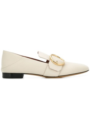 Bally buckle embellished loafers - White