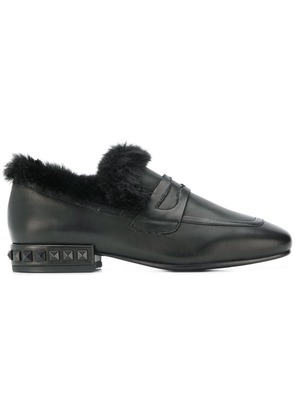 Ash pyramid studs loafers - Black