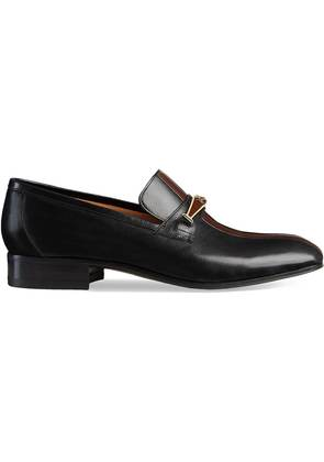 Gucci Leather loafer with stripe - Black