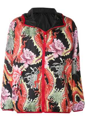 P.A.R.O.S.H. Chinese floral print jacket - Black