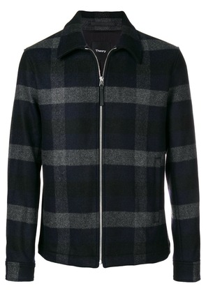 Theory checked shirt jacket - Blue