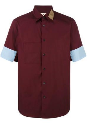 Marni colour block shirt - Red