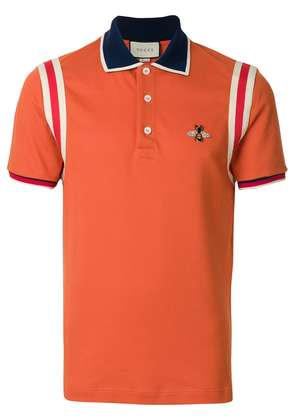 Gucci bee patch polo shirt - Yellow & Orange