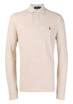 Polo Ralph Lauren long sleeved classic polo - Nude & Neutrals
