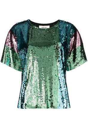 Circus Hotel sequin shortsleeved blouse - Green
