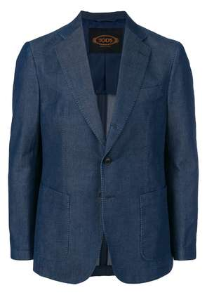 Tod's unstructured two-button blazer - Blue