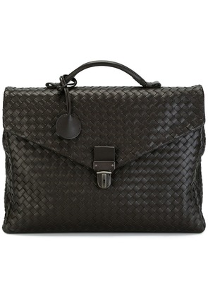 Bottega Veneta small interlaced briefcase - Brown