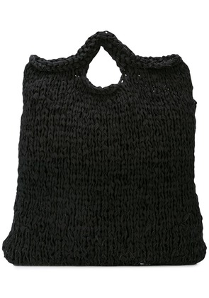 Casey Casey knitted tote bag - Black