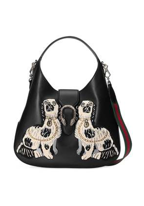 Gucci Dionysus embroidered large leather hobo - Black