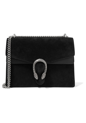 Gucci - Dionysus Medium Suede And Leather Shoulder Bag - Black