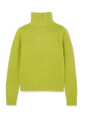 Allude - Cashmere Turtleneck Sweater - Green