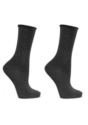 Falke - Metallic Knitted Socks - Anthracite
