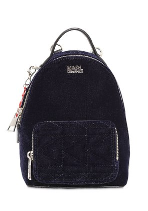 KAIA X KARL GLITTER VELVET MINI BACKPACK