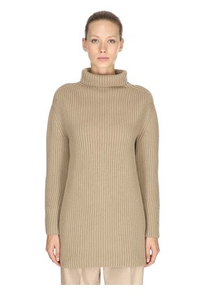 OVERSIZED CASHMERE RIB KNIT SWEATER
