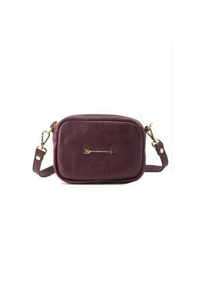 Bullet Small Arrow Bag - Burgundy