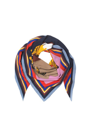 Tria Silk Scarf - Blue Nights