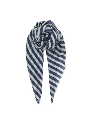 Cordelia Wool Mix Scarf - Blue Nights