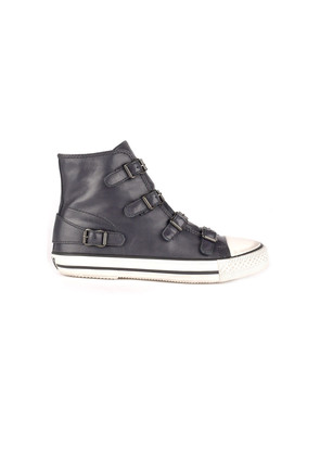 Virgin Leather Buckle Trainers - Graphite
