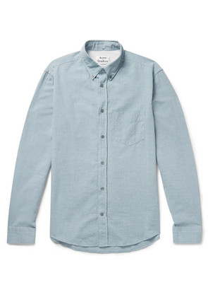 Isherwood Slim-fit Button-down Collar Cotton-chambray Shirt