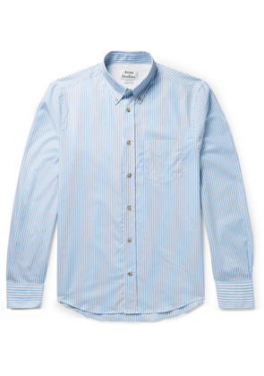 Isherwood Button-down Collar Striped Cotton-poplin Shirt